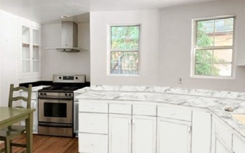 Kitchen after virtual improvement of white