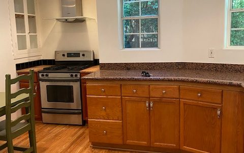 Kitchen before virtual improvement of white